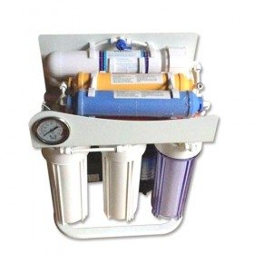 6 stage RO water filter with pressure gauge and frame