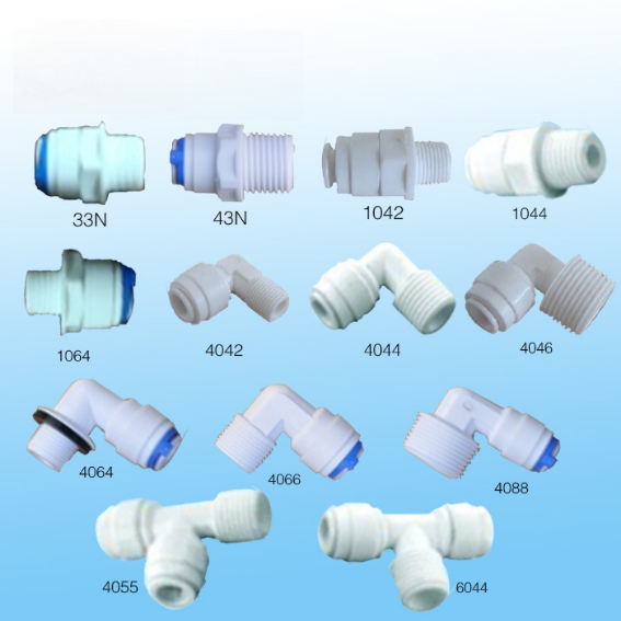 Plastic Quick Connect Water Fittings , RO water filter spare parts Featured Image