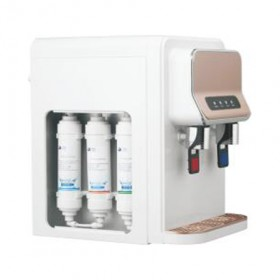 small counter top 3 stage RO/UF systerm hot cold water compressor cooling water filter dispenser